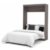 Bestar Nebula by Bestar Full Wall bed in Bark Gray & White