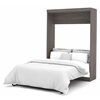Nebula Full Wall bed in Bark Gray