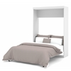 Nebula Full Wall bed in White
