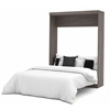 Nebula Queen Wall bed in Bark Gray & White