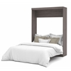 Bestar Nebula by Bestar Queen Wall bed in Bark Gray