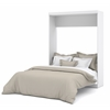 Nebula Queen Wall bed in White