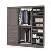 Bestar Nebula by Bestar 80'' Storage kit in Bark Gray