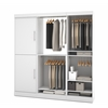 Bestar Nebula by Bestar 80'' Storage kit in White