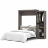 "Bestar Nebula by Bestar 90"" Queen Wall bed kit in Bark Gray"