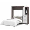 """Nebula 90"""" Queen Wall bed kit in Bark Gray & White"""