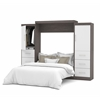 "Nebula 115"" Queen Wall bed kit in Bark Gray & White"