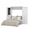 "Bestar Nebula by Bestar 115"" Queen Wall bed kit in White"