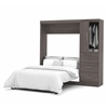 "Bestar Nebula by Bestar 84"" Full Wall bed kit in Bark Gray"
