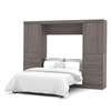 "Nebula 109"" Full Wall bed kit in Bark Gray"