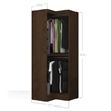 Bestar Pur by Bestar Corner storage unit in Chocolate