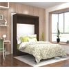 Bestar Pur by Bestar Full Wall bed in Chocolate