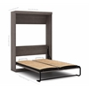 Pur by Bestar Queen Wall bed in Bark Gray