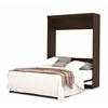 Bestar Pur by Bestar Queen Wall bed in Bark Gray