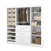 "Bestar Pur by Bestar 86"" Storage kit in White"