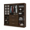 "Bestar Pur by Bestar 86"" Storage kit in Chocolate"