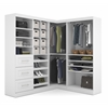 Bestar Pur by Bestar Corner Storage kit in White