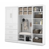 "Bestar Pur by Bestar 97"" Mudroom Storage kit in White"