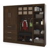 "Bestar Pur by Bestar 97"" Mudroom Storage kit in Chocolate"