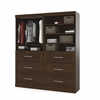 "Bestar Pur by Bestar 72"" Storage kit in Chocolate"
