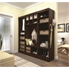 "Bestar Pur by Bestar 86"" Mudroom kit in Chocolate"