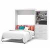 "Bestar Pur by Bestar 101"" Queen Wall bed kit in White"