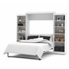 "Bestar Pur by Bestar 115"" Queen Wall bed kit in White"