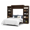 "Bestar Pur by Bestar 115"" Queen Wall bed kit in Chocolate"