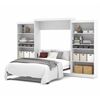 "Bestar Pur by Bestar 136"" Queen Wall bed kit in White"