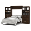 "Bestar Pur by Bestar 136"" Queen Wall bed kit in Chocolate"