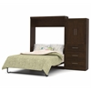 "Bestar Pur by Bestar 101"" Queen Wall bed kit in Chocolate"