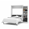 "Bestar Pur by Bestar 90"" Queen Wall bed kit in White"