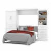 "Bestar Pur by Bestar 126"" Queen Wall bed kit in White"