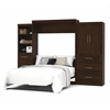 "Bestar Pur by Bestar 126"" Queen Wall bed kit in Chocolate"