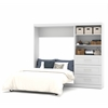 "Bestar Pur by Bestar 95"" Full Wall bed kit in White"