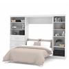 "Bestar Pur by Bestar 120"" Full Wall bed kit in White"