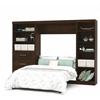 "Bestar Pur by Bestar 120"" Full Wall bed kit in Chocolate"