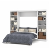 "Bestar Pur by Bestar 109"" Full Wall bed kit in White"