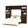 "Bestar Pur by Bestar 109"" Full Wall bed kit in Chocolate"