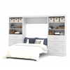 "Bestar Pur by Bestar 131"" Full Wall bed kit in White"