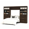 "Bestar Pur by Bestar 131"" Full Wall bed kit in Chocolate"