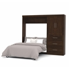 "Bestar Pur by Bestar 95"" Full Wall bed kit in Chocolate"