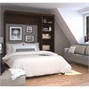 "Bestar Pur by Bestar 84"" Full Wall bed kit in Chocolate"