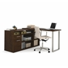Solay L-Shaped Desk in Chocolate