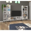 Solay 3-Piece Entertainment Unit Set in White