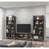 Solay 3-Piece Entertainment Unit Set in Bark Gray
