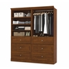 Bestar Versatile by Bestar 72'' Storage kit in Tuscany Brown