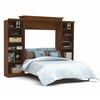 Bestar Versatile by Bestar 115'' Queen Wall bed kit in Tuscany Brown