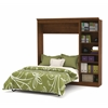Bestar Versatile by Bestar 84'' Full Wall bed kit in in Tuscany Brown