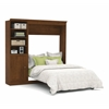 Bestar Versatile by Bestar 84'' Full Wall bed kit in Tuscany Brown